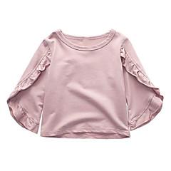 baratos Roupas de Meninas-Infantil Para Meninas Sólido Manga 3/4 Camiseta