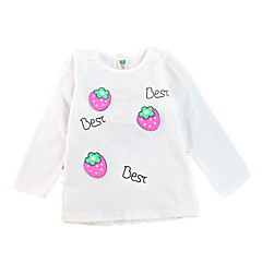 tanie Odzież dla dziewczynek-Dzieci Dla dziewczynek Podstawowy Nadruk Długi rękaw Bawełna Bluzka Rumiany róż