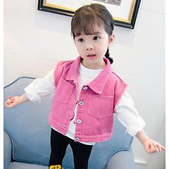 billige Overtøj til babyer-Baby Pige Ensfarvet Uden ærmer Jakke og frakke