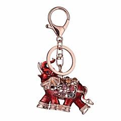 baratos Chaveiros-Elefante Chaveiro Vermelho / Azul Irregular, Animal Imitações de Diamante, Liga Decorada com Pedrarias / Strass, Fashion Para Presente / Diário