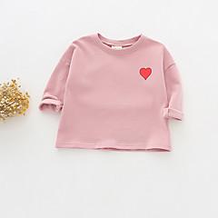 billige Babyoverdele-Baby Pige Ensfarvet / Trykt mønster Langærmet T-shirt