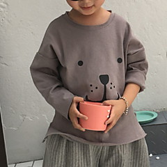 baratos Roupas de Meninos-Infantil Para Meninos Sólido / Estampa Colorida Manga Longa Moleton & Blusa de Frio