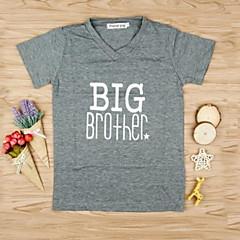 billige Gutteklær-Barn Gutt Trykt mønster Kortermet T-skjorte