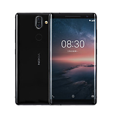 "billiga Mobiltelefoner-NOKIA Nokia 8 Sirocco 5.5 tum "" 4G smarttelefon ( 6SE + 128GB 12 mp / 13 mp Qualcomm Snapdragon 835 3260 mAh mAh ) / 2560x1440"