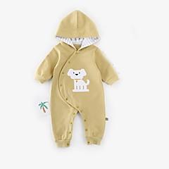 billige Babytøj-Baby Pige Basale Trykt mønster Langærmet En del