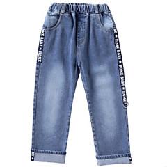 billige Bukser og leggings til piger-Børn Pige Basale Ensfarvet / Geometrisk Bomuld Jeans