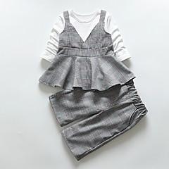 billige Babytøj-Baby Pige Ternet Kortærmet Tøjsæt