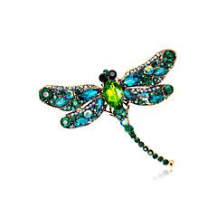 billige Motebrosjer-Dame Vintage Stil Nåler - Gullbelagt Dragonfly, Dyr Unikt design, Vintage Brosje Lys Grønn / Lysebrun / Mørkegrønn Til Aftenselskap / Gate