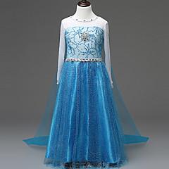 tanie Odzież dla dziewczynek-Dzieci Dla dziewczynek Solidne kolory Długi rękaw Sukienka