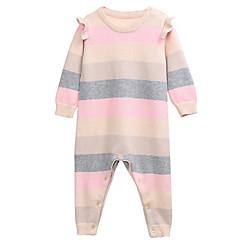billige Babytøj-Baby Pige Stribet Langærmet En del