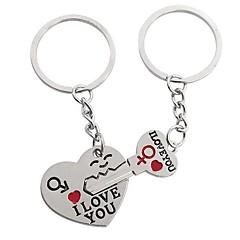 tanie Łańcuszki do kluczy-Serce Łańcuszek do kluczy Srebrny Stop Niedopasowanie Na Codzienny