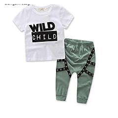 billige Tøjsæt til drenge-Børn Drenge Ensfarvet Kortærmet / Langærmet Tøjsæt