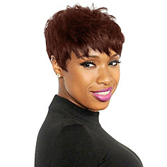 cheap Wigs & Hair Pieces-Human Hair Capless Wigs Human Hair Straight Layered Haircut Natural Black / Blonde / Brown Short Capless Wig Women's Daily