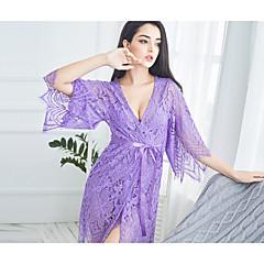 billige Moteundertøy-Dame Super Sexy Dress Nattøy - Ensfarget, Blonde / Dyp V
