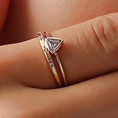 billige Motering-Dame Krystall Elegant Ring Tail Ring - Strass, Legering Kreativ Enkel, Koreansk, Mote Gull Til Daglig Ut på byen Klubb