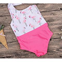 billige Badetøj til piger-Børn Pige Basale Sport Ensfarvet / Blomstret Patchwork Bomuld / Polyester Badetøj Lyserød