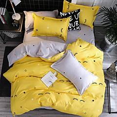billiga Påslakan-täcke täcker moderna poly / bomullsreaktiva tryck 4 styckssängsatser / 300 / 4stk (1 täcke, 1 platta ark, 2 shams) kung