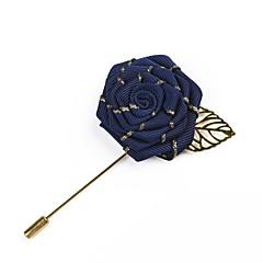 billige Motebrosjer-Herre Retro Nåler - Roser, Flower Shape Enkel, Grunnleggende Brosje Grå / Lys Rosa / Marineblå Til Bryllup / Fest