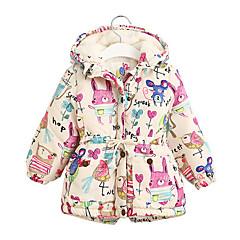 billige Pigetoppe-Børn Pige Geometrisk Langærmet Bluse