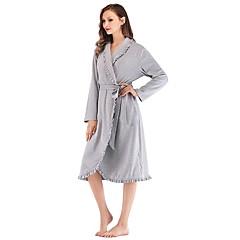 billige Moteundertøy-Dame Dyp V Teddy Pyjamas - Lapper