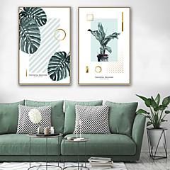 baratos Quadros com Moldura-Quadros Emoldurados / Conjunto Emoldurado - Botânico / Floral / Botânico Plástico Ilustração