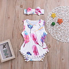 رخيصةأون جمبسوت للبيبي-ارتداءها بدون كم طباعة فتيات طفل قطعتين