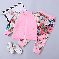 billige Tøjsæt til piger-Baby Pige Blomstret Langærmet Tøjsæt