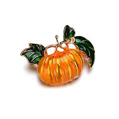 billige Motebrosjer-Dame Vintage Stil Nåler - Blomster Tema, Kreativ Vintage, Tegneserie Brosje Gul Til Halloween / Aftenselskap / Kveld og spesielle anledninger