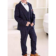billige Tøjsæt til drenge-Børn Drenge Basale Ternet Langærmet Bomuld Tøjsæt