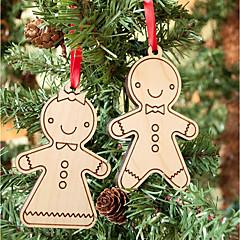 billige Originale moroleker-Julekort og Etiketter Julepynt Julegaver Mennesker Kreativ Smuk Tre / Bambus Barne Alle Leketøy Gave 2 pcs