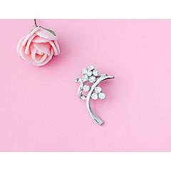 Χαμηλού Κόστους Καρφίτσες και Καρφίτσες Πέτου-Γυναικεία Πεπαλαιωμένο Στυλ Καρφίτσες - Flower Shape Απλός Καρφίτσα Ασημί Για Καθημερινά