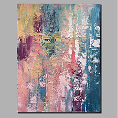 cheap Wall Art-Oil Painting Hand Painted - Abstract Landscape Comtemporary Modern Stretched Canvas / Rolled Canvas