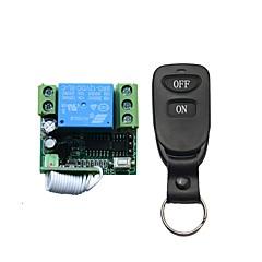 voordelige -nieuw klein formaat lerend type 12v enkele afstandsbediening schakelaar 1 lederen knop type twee knoppen draadloze afstandsbediening