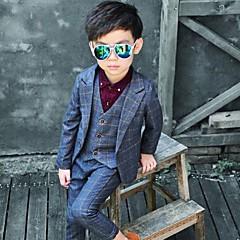tanie Odzież dla chłopców-Dzieci Dla chłopców Podstawowy Nadruk Długi rękaw Regularny Regularny Bawełna Komplet odzieży Niebieski 110