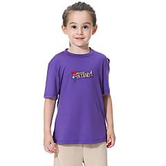 billige Jenteklær-Barn Jente Trykt mønster Kortermet T-skjorte