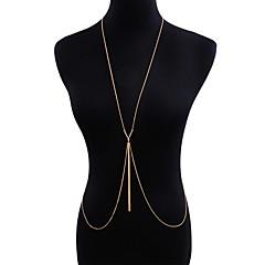 baratos Bijoux de Corps-Cadeia corpo / Cadeia de barriga Tropical, Boho, Elegante Mulheres Dourado Bijuteria de Corpo Para Bandagem / Bikini