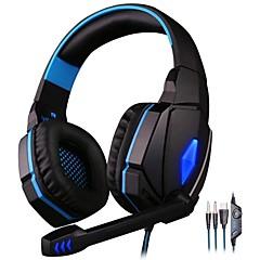 billiga Headsets och hörlurar-KOTION EACH G4000 Headband Kabel Hörlurar Hörlurar / Hörlur PP+ABS Spel Hörlur mikrofon / Med volymkontroll headset