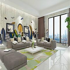 billige Tapet-bakgrunns / Veggmaleri Lerret Tapetsering - selvklebende nødvendig Stripet / Art Deco / Mønster