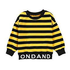 billige Overdele til drenge-Børn Drenge Stribet / Trykt mønster Langærmet T-shirt