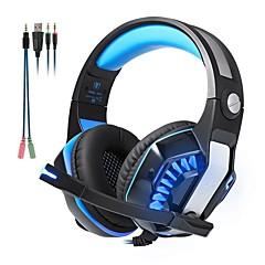billiga Headsets och hörlurar-KOTION EACH GM-2 Headband Kabel Hörlurar Hörlurar / Hörlur ABS-harts Spel Hörlur mikrofon / Med volymkontroll headset