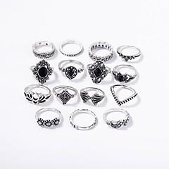 billige Motering-Dame Vintage Stil Ring Set - Legering Romantikk Sølv Til Bar Festival