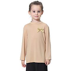 tanie Odzież dla dziewczynek-Dzieci Dla dziewczynek Solidne kolory Długi rękaw T-shirt