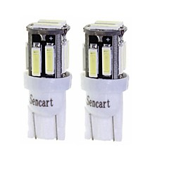 billige Interiørlamper til bil-SENCART 2pcs T10 / BA9S Motorsykkel / Bil Elpærer 3 W SMD 7020 160 lm 10 LED Blinklys / Motorsykkel / interiør Lights Til