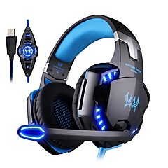 billiga Headsets och hörlurar-KOTION EACH G2200 Headband Kabel Hörlurar Hörlurar / Hörlur PP+ABS Spel Hörlur mikrofon / Med volymkontroll headset
