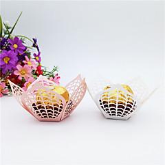 Χαμηλού Κόστους Βάσεις για Μπομπονιέρες-Λουλούδι Χαρτόνι Εύνοια Κάτοχος με Στυλ Διασκοπρισμένου Μοτίβου Χαντρών Κουτιά Δώρων - 50pcs