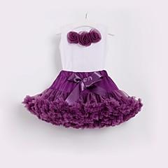 billige Tøjsæt til piger-Børn / Baby Pige Blomstret Uden ærmer Tøjsæt