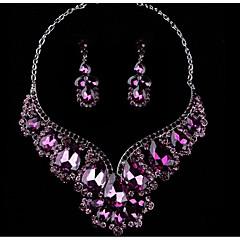 Χαμηλού Κόστους Σετ Κοσμημάτων-Γυναικεία Πολύχρωμο Cubic Zirconia Κοσμήματα Σετ - Αχλάδι Μοντέρνο, κυρίες, Στυλάτο, Πολυτέλεια, Ρομαντικό, Κομψό Περιλαμβάνω Κρεμαστά Σκουλαρίκια Κοσμήματα κολιέ Βυσσινί / Κόκκινο / Μπλε Για