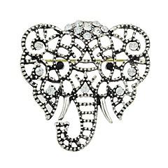 billige Motebrosjer-Dame Kubisk Zirkonium Nåler - Elefant damer, Stilfull, Grunnleggende Brosje Smykker Sølv Til Gave / Daglig
