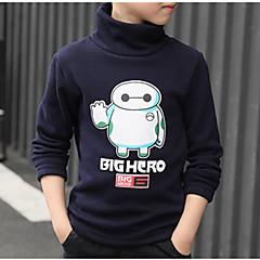 billige Hættetrøjer og sweatshirts til drenge-Børn / Baby Drenge Aktiv Daglig Trykt mønster Trykt mønster Langærmet Normal Bomuld / Polyester Hættetrøje og sweatshirt Navyblå