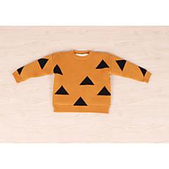 billige Sweaters og cardigans til piger-Baby Pige Ensfarvet / Geometrisk Langærmet Trøje og cardigan
